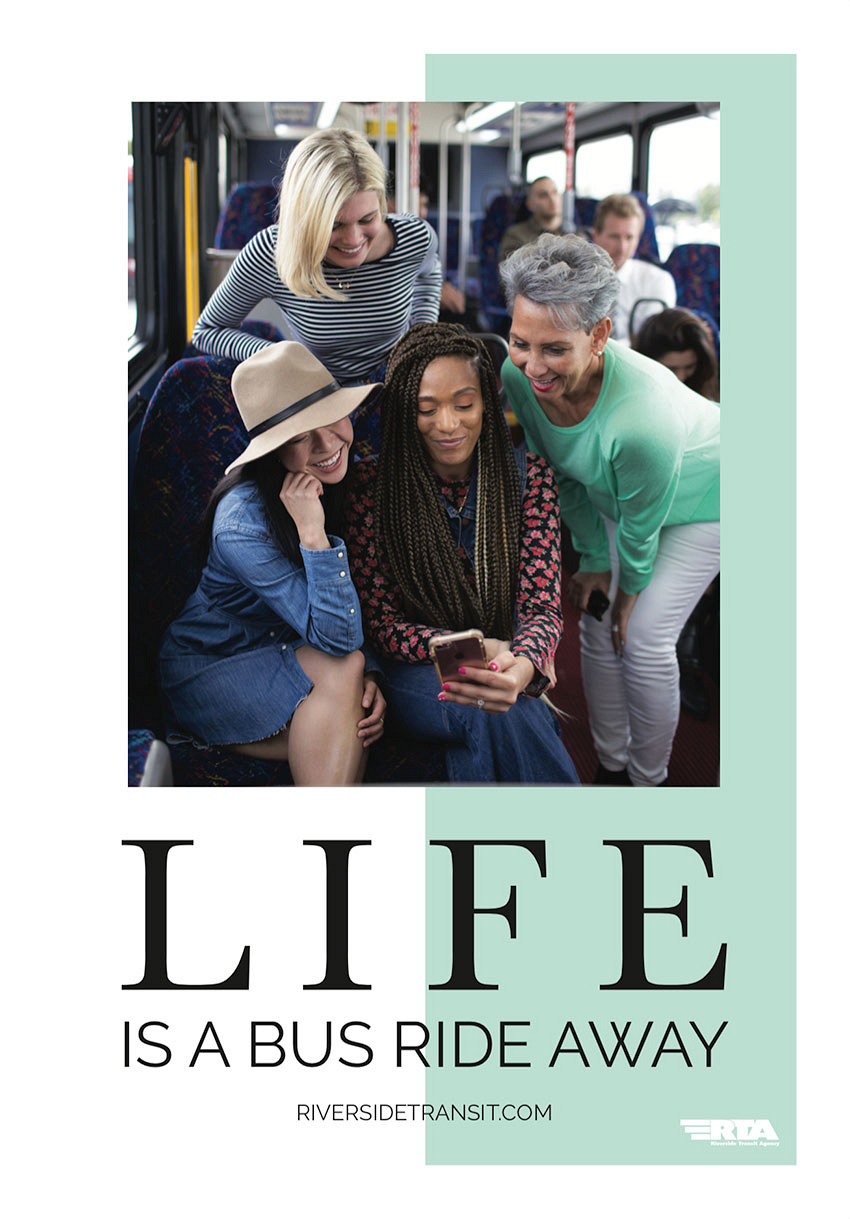 Life Is A Bus Ride Away Shelter Posters