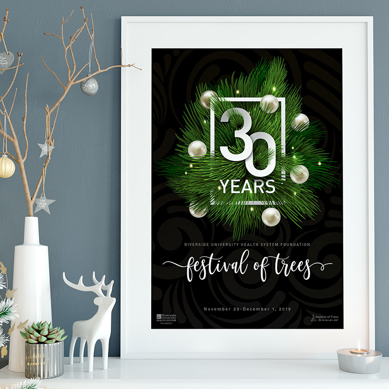 Festival of Trees Poster Design